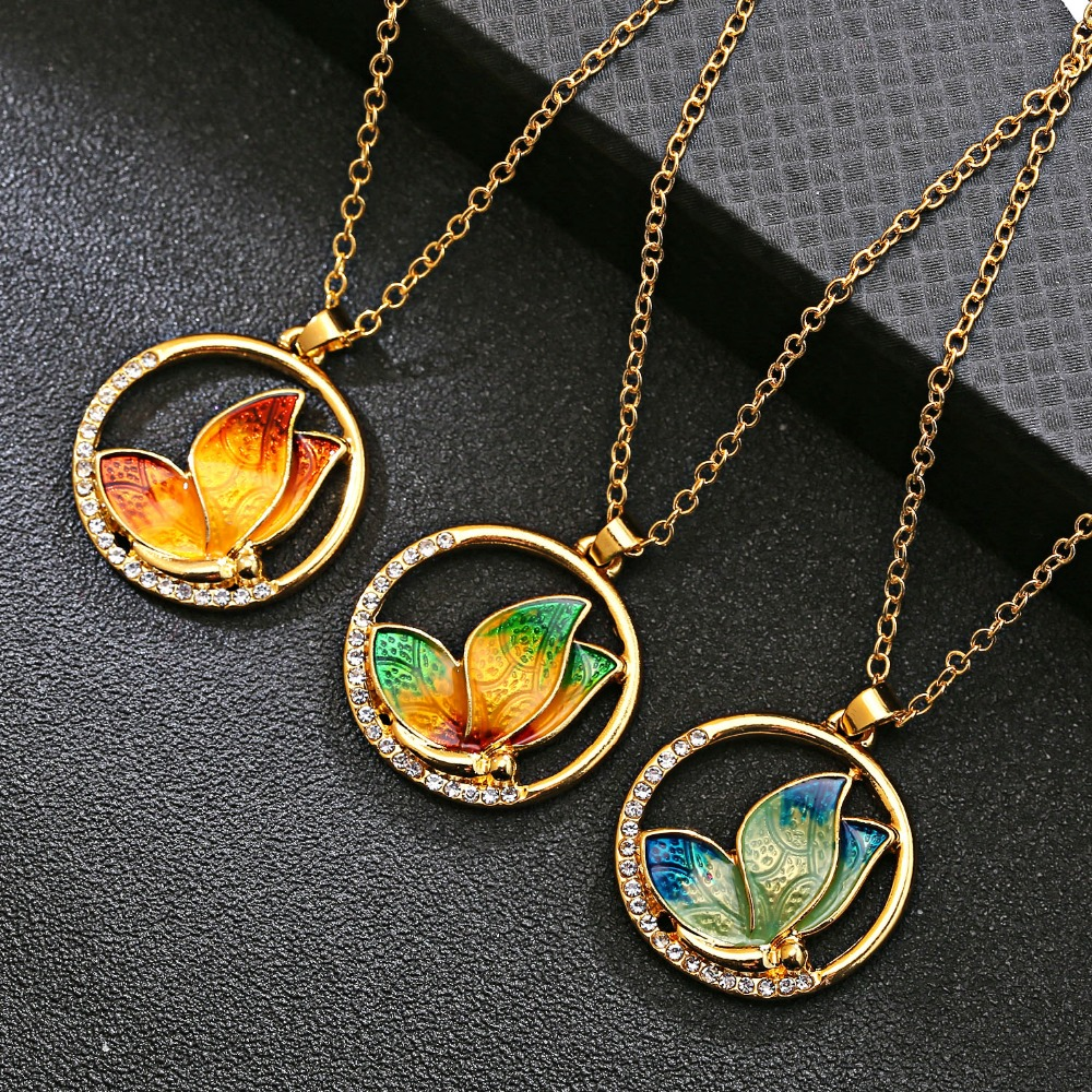 Encircled Butterfly Necklace - TrulyB